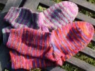 Socken aus handgefärbter Sockenwolle Aquarell
